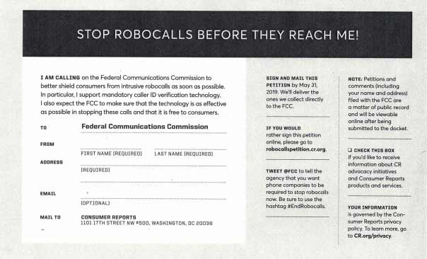 Sign the petition to stop robocalls